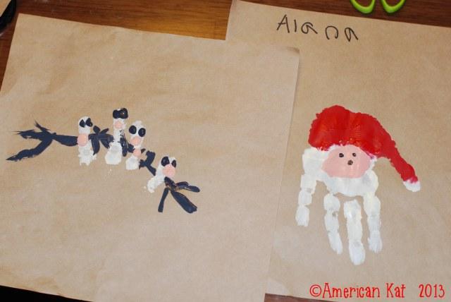 Day 10 - Handprint art.