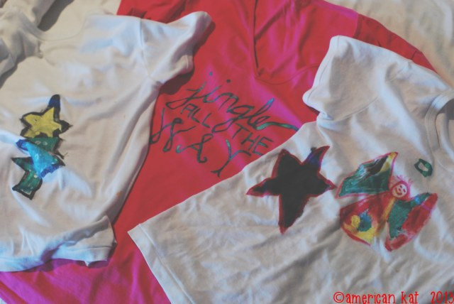 Advent Calendar - Day 3 - Decorate Christmas Shirts ©american kat  2013