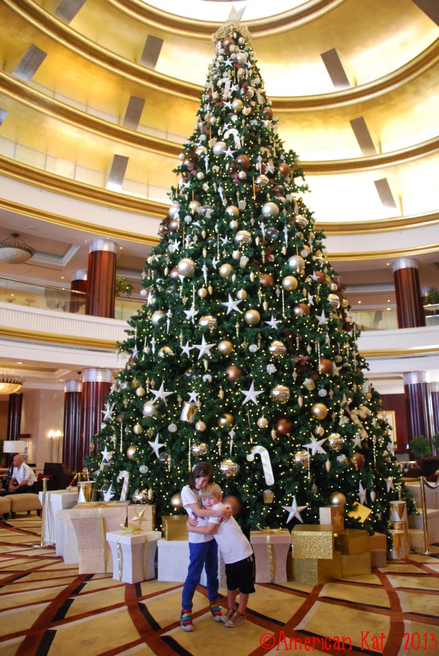The Christmas tree at the Beach Rotana, where the Swiss Christmas Market was held, is absolutely beautiful.