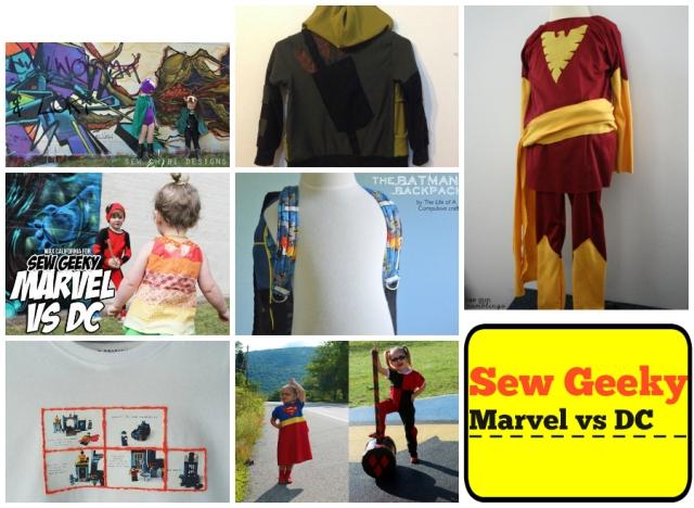 Sew Geeky Marvel vs DC  teaser